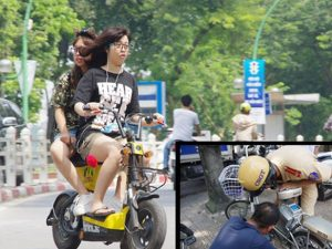 Xe đạp điện vượt đèn đỏ và không đội mũ bảo hiểm phạt bao nhiêu tiền?